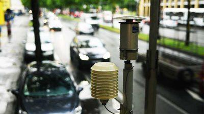 """Messstationen erfassen die Stickoxid-Belastungen in den Städten. Foto: """"obs/ZDF/Dennis Mätzig"""""""